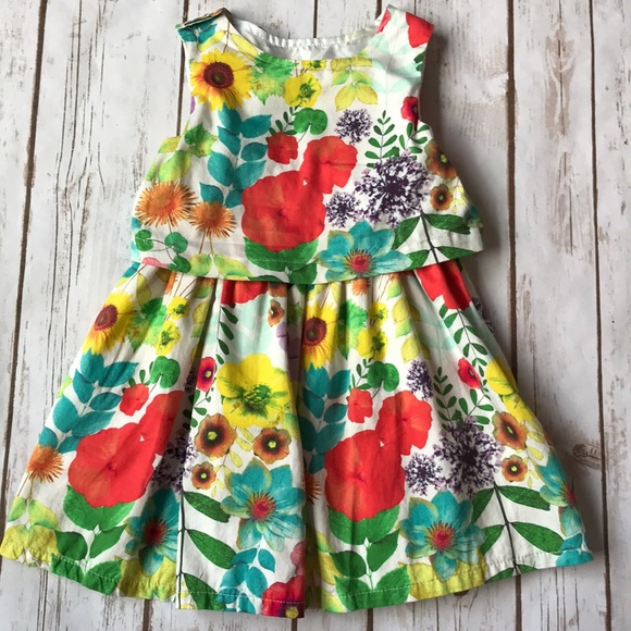 Cherokee Dresses Toddler Girl Floral Flower Spring Dress Poshmark